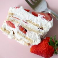 Strawberry Shortcake Icebox Cake