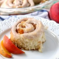 Brown Butter Peach Sweet Rolls