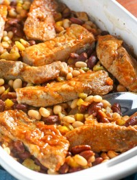 Baked Country Style Ribs with Beans