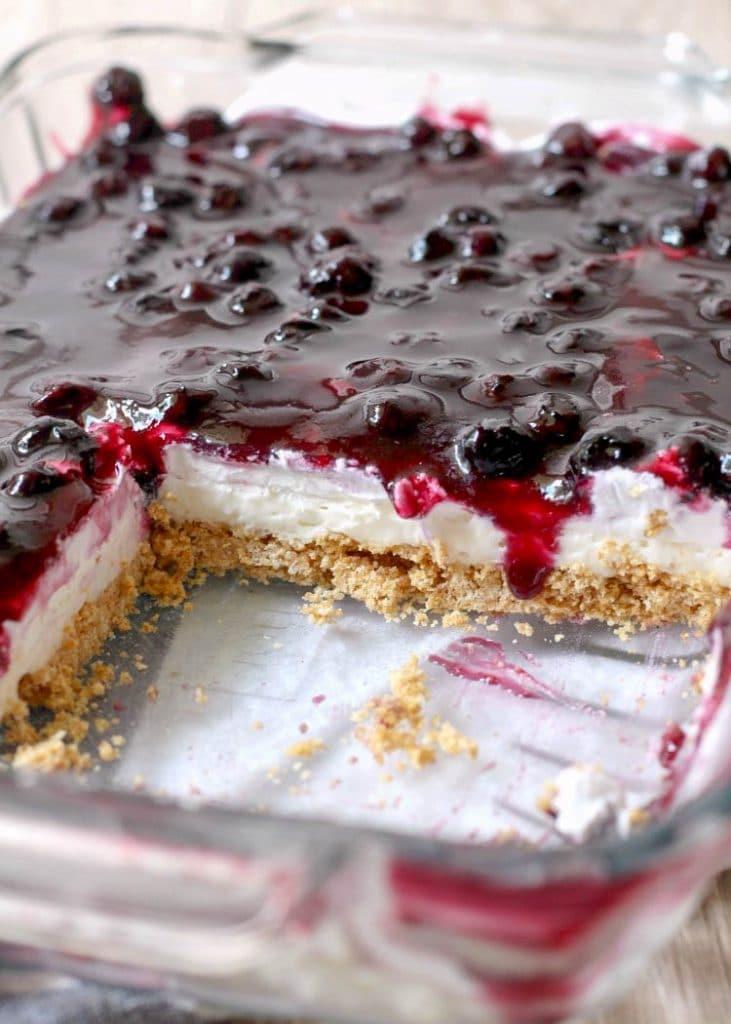 Easy Blueberry Cheesecake - no bake recipe