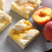 Fresh Peach Pie Bars