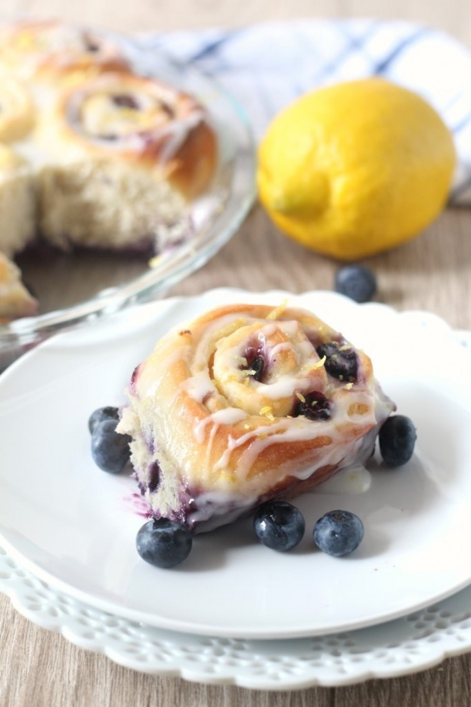 Lemon Blueberry Sweet Rolls are perfect for breakfast or dessert. They are a fun weekend baking project in the summer. Or all year round since they are made using frozen blueberries.