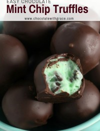 Mint Chocolate Chip Truffles are a perfect treat for the holidays and Christmas. With a few simple ingredients like cream cheese, butter and sugar, you can have an easy christmas candy recipe for all your holiday cookie exchanges and party trays.