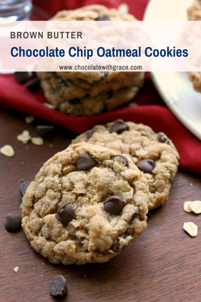 The Best Browned Butter Chocolate Chip Oatmeal Cookies
