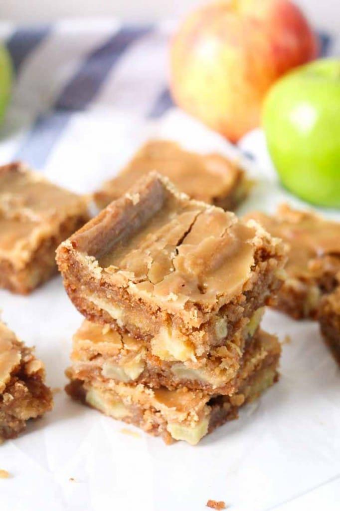 Apple Blondies with Brown Sugar Frosting