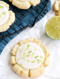 Coconut Sugar Cookies with Lime