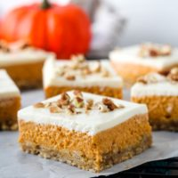Easy Layered Pumpkin Cheesecake Bars