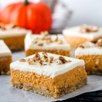 Layered Pumpkin Cheesecake Bars