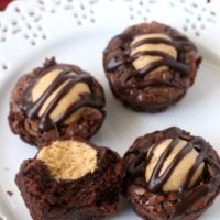 Buckeye Brownie Bites