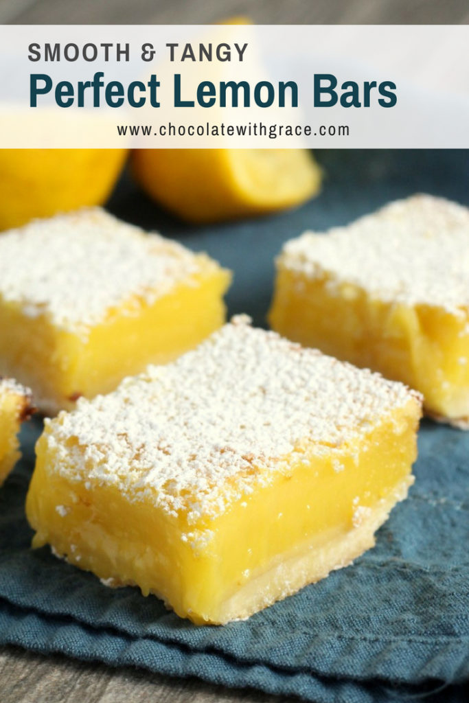 Perfect lemon bars with a shortbread crust