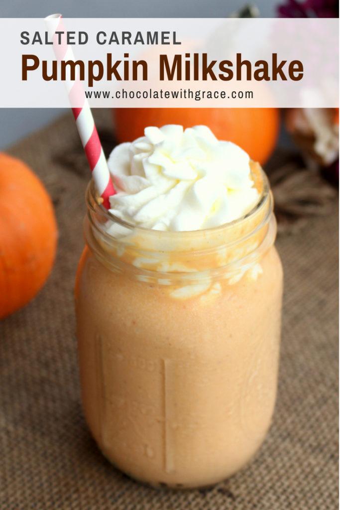 Salted Caramel Pumpkin Milkshake