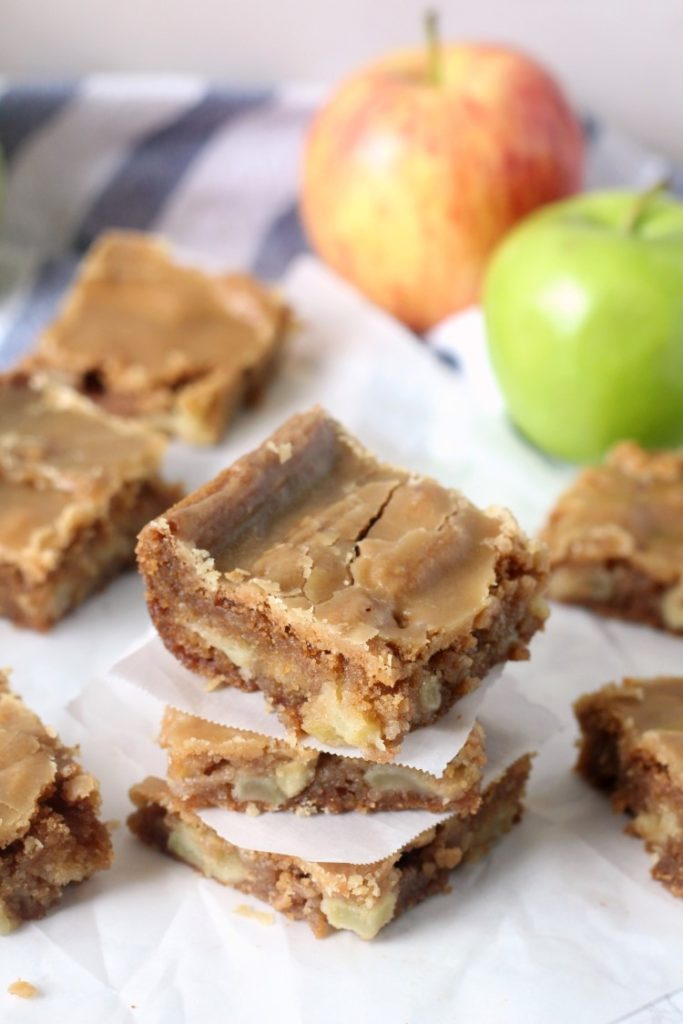 The best apple blondies with brown sugar frosting