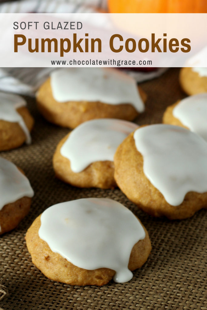 Old Fashioned Soft Pumpkin Cookies are easy and are glazed on top. They are a fun fall baking project for kids or the whole family. A fun pumpkin dessert idea that is perfect for autumn or thanksgiving. #pumpkin #thanksgiving #dessert #pumpkincake