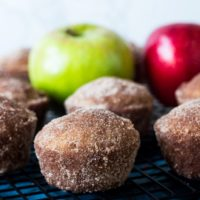 Baked Apple Cider Donuts in a Muffin Tin