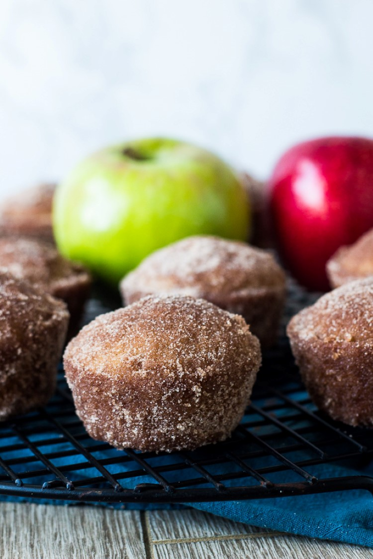 Baked Apple Cider Donuts In A Muffin Tin Chocolate With