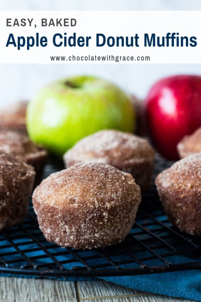 baked apple cider donuts made in a muffin tin
