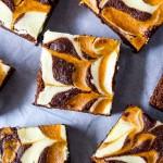 Pumpkin Swirled Brownies