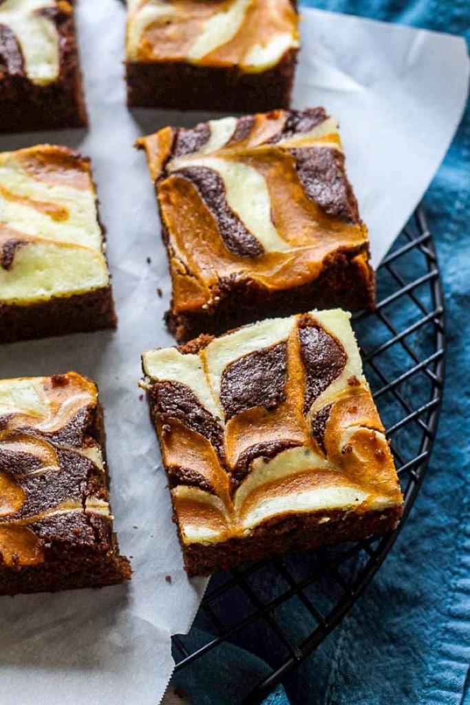 Pumpkin Cheesecake Brownies are a fall hit