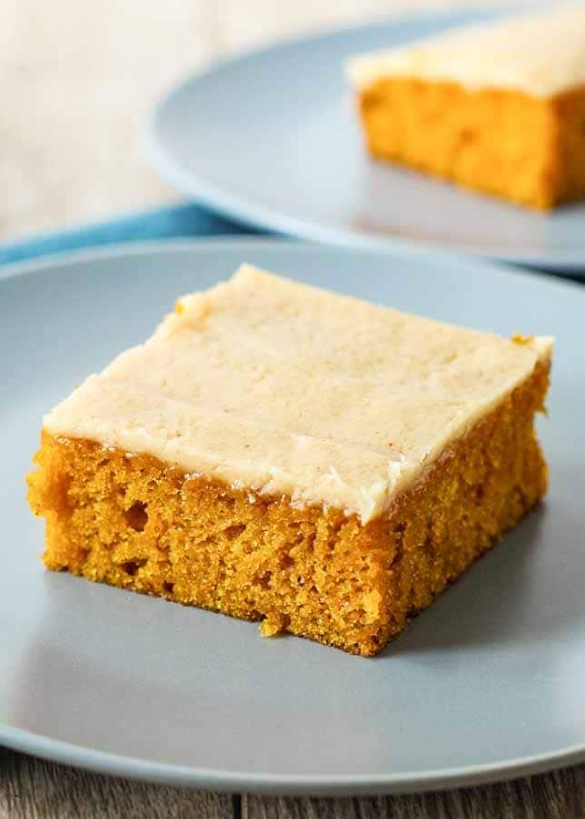 Pumpkin Sheet Cake is a must for fall baking.