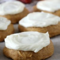 Cream Cheese Frosted Pumpkin Cookies