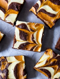 Pumpkin Cream Cheese Swirled Brownies