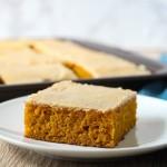 pumpkin sheet cake with brown butter icing