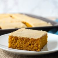 Pumpkin Sheet Cake with Brown Butter Icing, aka the best pumpkin cake you will have all year