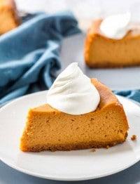 Pumpkin Pie Cheesecake is a new Thanksgiving favorite!
