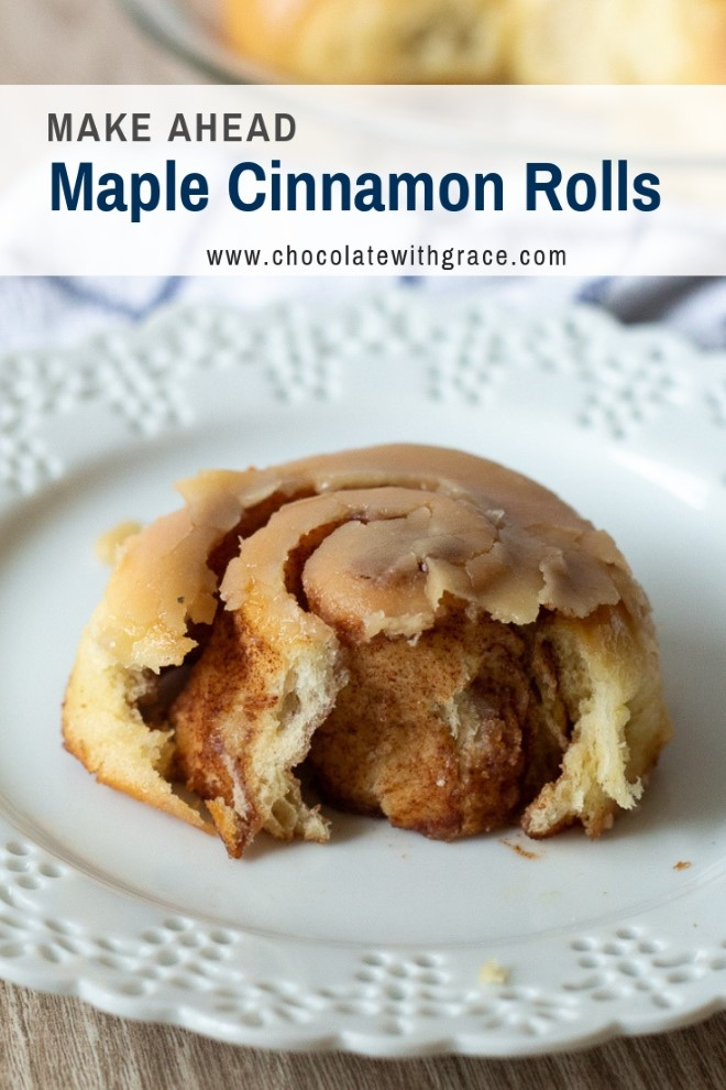 Make Ahead Maple Cinnamon Rolls