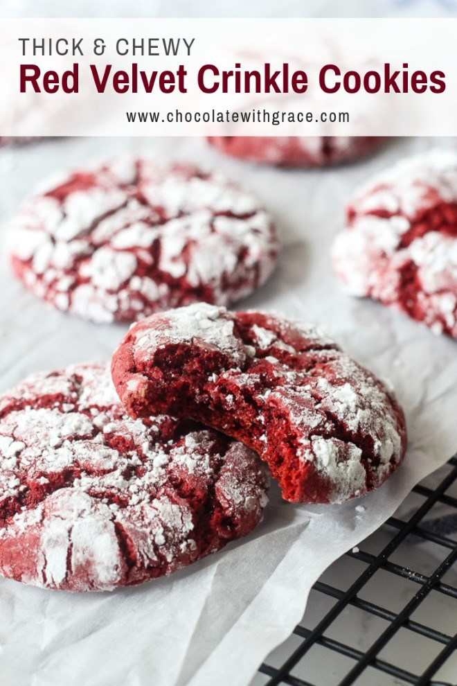 Red Velvet Cookies made with cake mix