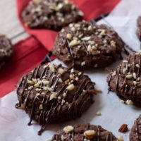Chewy Chocolate Hazelnut Cookies
