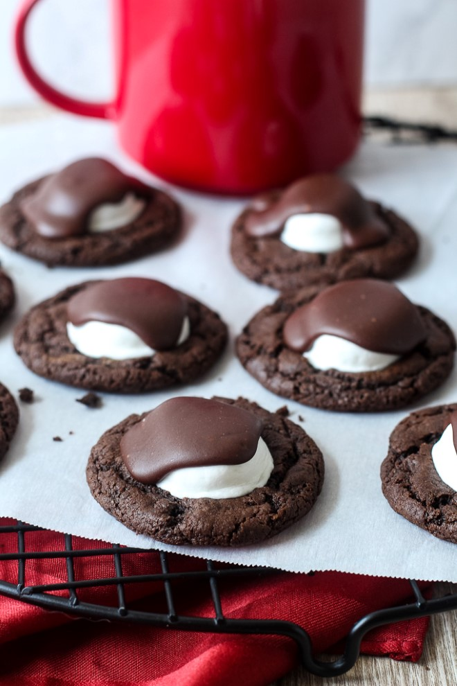 chocolate covered marshmallow cookies