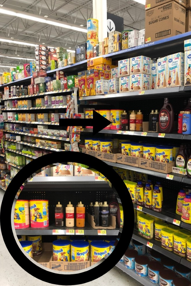 Walmart Store Shelf with Torani Sauces