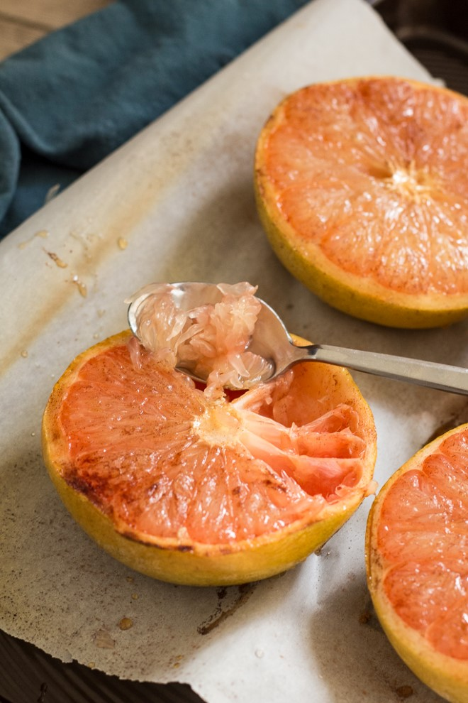 A spoonful of broiled grapefruit