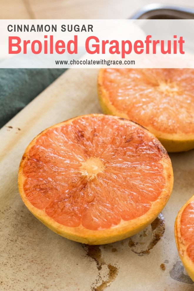 broiled grapefruit on a sheet