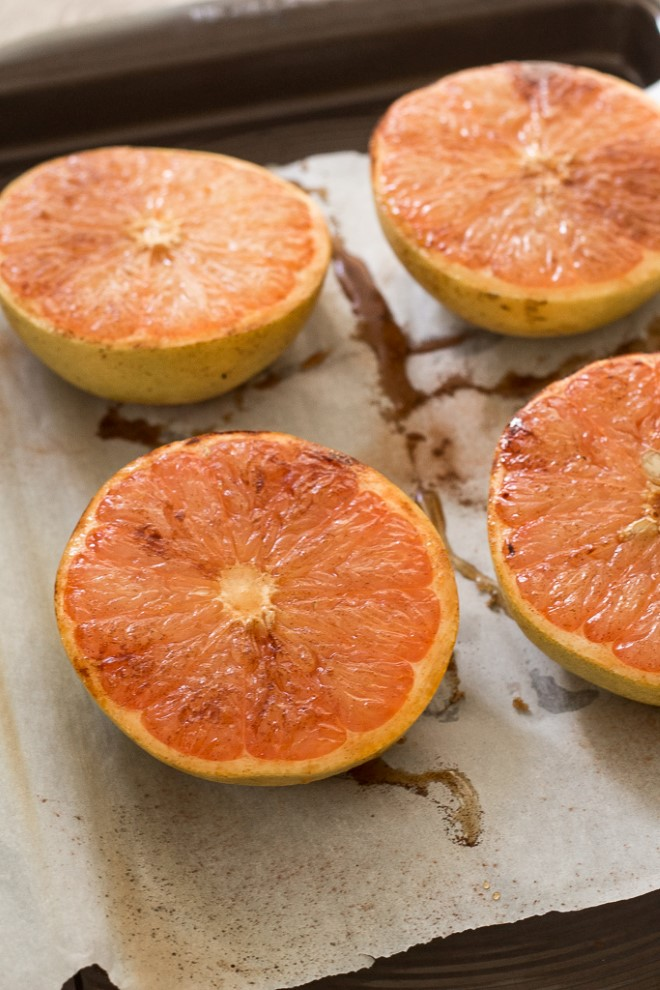 4 broiled grapefruit