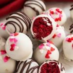 Red Velvet Cake Balls made with red velvet cake and cream cheese frosting