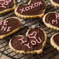 Valentine's Heart Shortbread Cookies