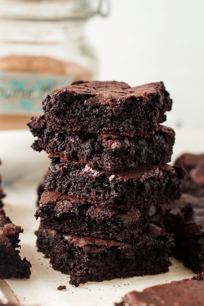 brownies made from homemade brownie mix
