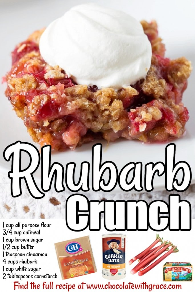 Rhubarb Crunch is an easy dessert for any occasion.