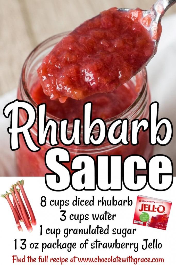 Rhubarb Sauce Ingredients
