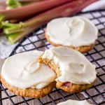 Rhubarb Cookies with Cream Cheese Frosting