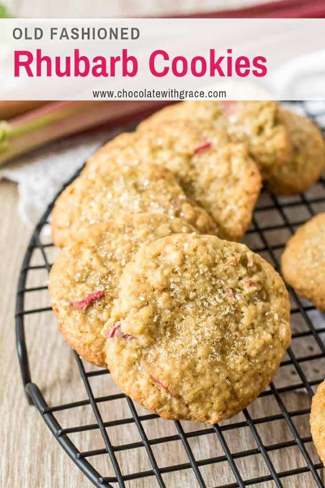 Soft and chewy Rhubarb Cookies