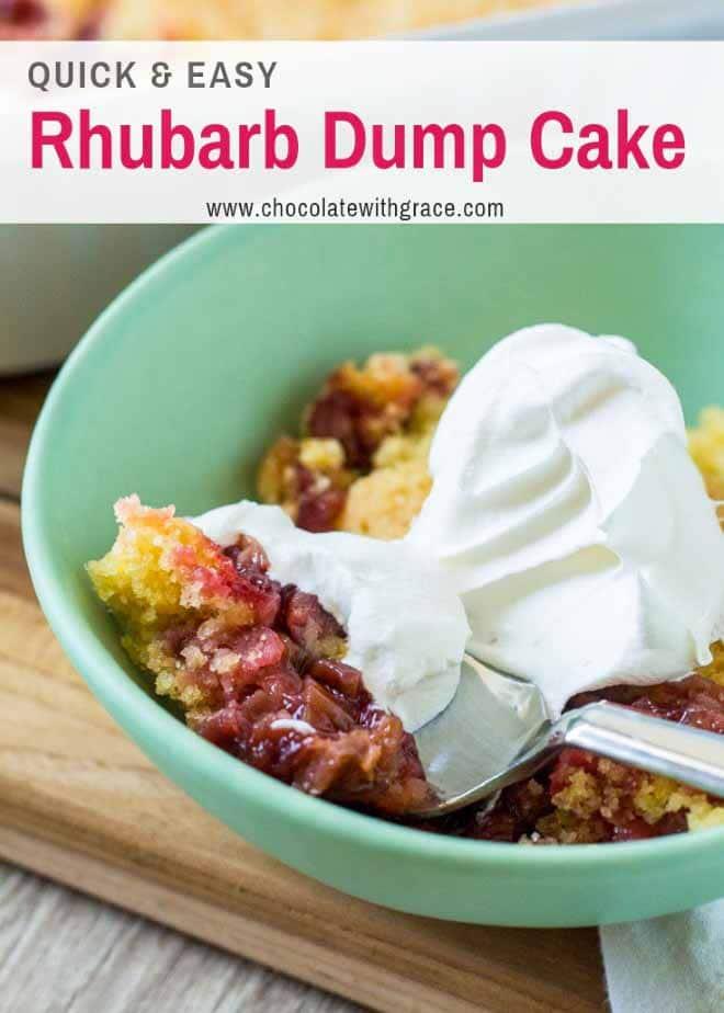 Rhubarb Dump Cake is a summer favorite.