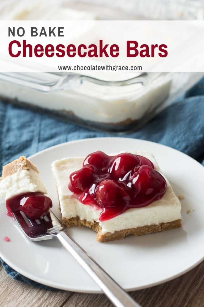 no bake cheesecake with cherries on top