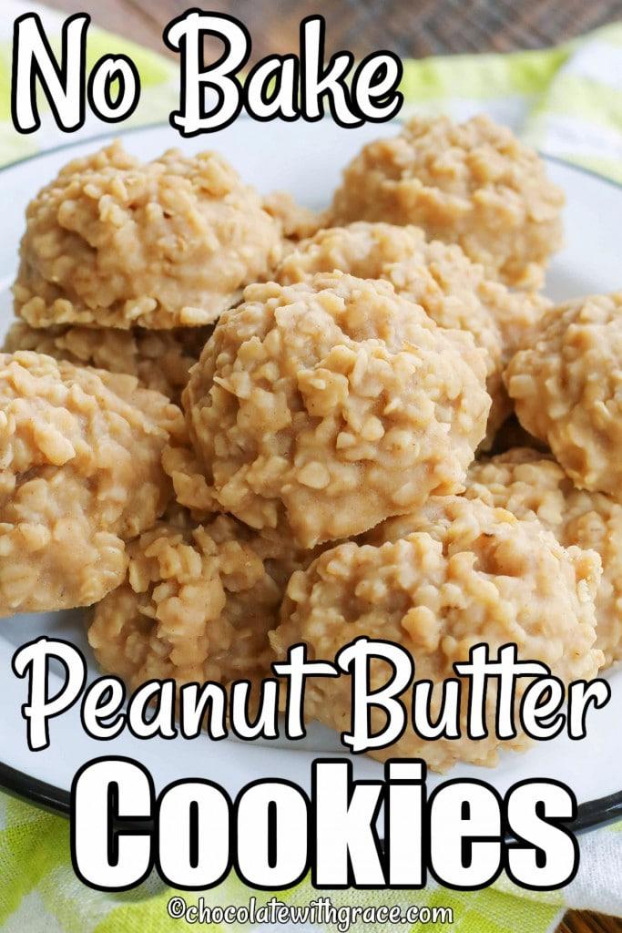 No Bake PB Cookies are a kid favorite!
