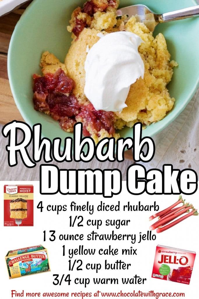 Rhubarb Dump Cake Ingredients