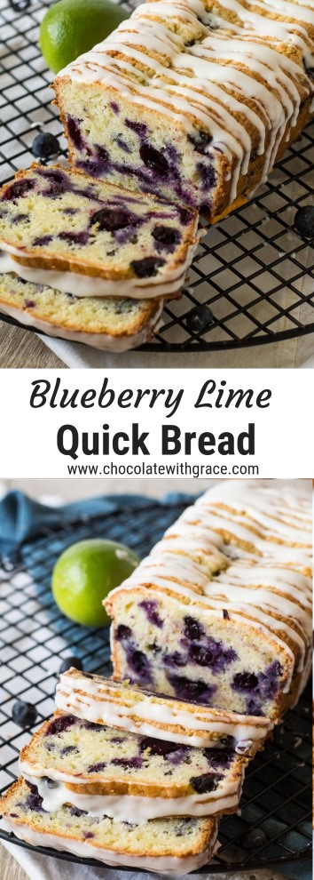 blueberry lime quick bread