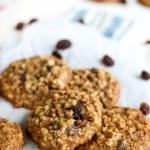 Healthy oatmeal cookies with raisins.