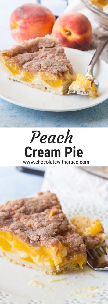 peach cream pie collage